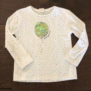 Zara sequin balloon shirt